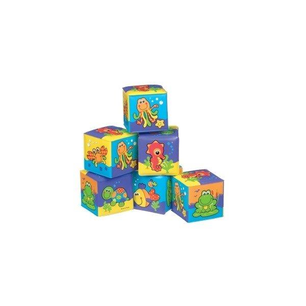 PLAYGRO Меки бебешки кубчета за баня 6 броя 0509